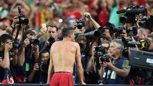 Ronaldo így ünnepelte mez nélkül az EB-győzelmet