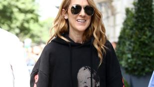Céline Dion titanicos pulóverben sétált Párizsban