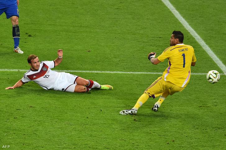 Mario Goetze gólja a német-argentin döntőn, 2014-ben