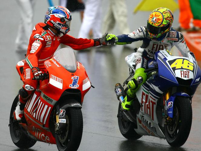 Stoner és Rossi 2008-ban