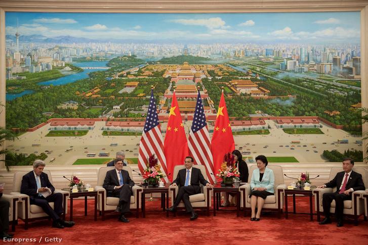 Kínai-amerikai csúcstalálkozó Pekingben, 2016. június 7-én.