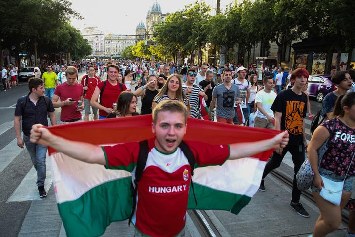 Ünneplés Budapesten az osztrákok legyőzése után