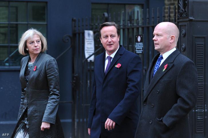 Theresa May, David Cameron és William Hague