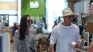 Angelina Jolie és Brad Pitt vásárolni vitte a gyerekeket