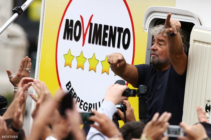 Beppe Grillo, az Öt Csillag Mozgalom vezetője