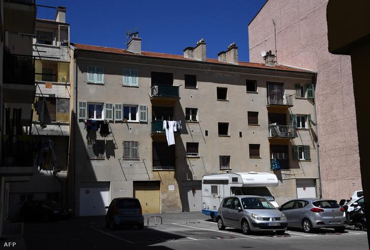 A ház ahol a férfi a támadás előtti napokban lakott