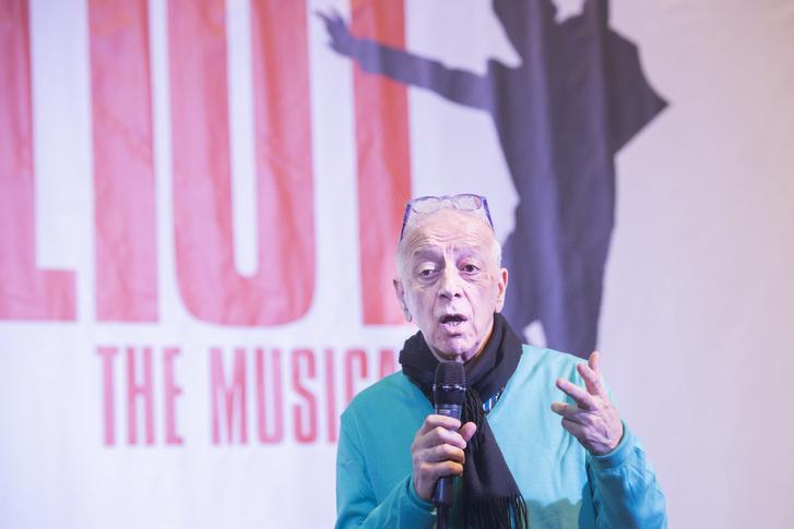 Szirtes Tamás a Billy Elliot - a Musical sajtótájékoztatóján