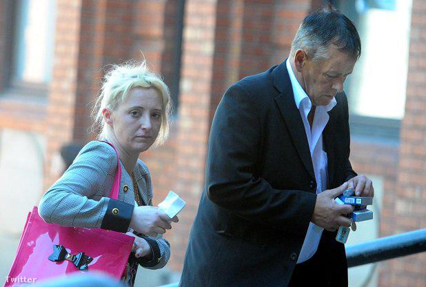 Tony Henderson és barátnője, Jennifer Dunn az ítélethirdetés előtt