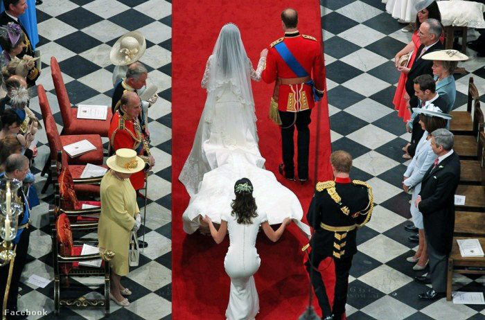 Katalin hercegné és Vilmos heceg esküvőjén, Pippa Middleton és a feneke