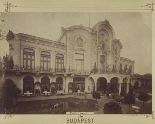 A Park Club, a mai Stefánia Palota homlokzata, 1890-1910