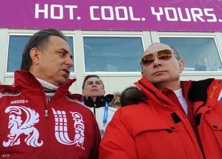 Vitalij Mutko és Vlagyimir Putyin Szocsiban