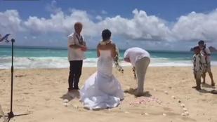 Szerencsétlen vőlegény elhányta magát az esküvőn