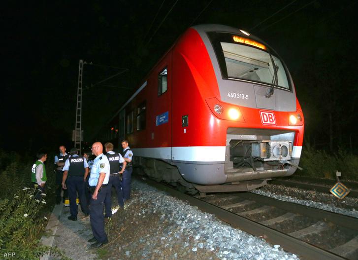 A vonat, amelyen a támadás történt