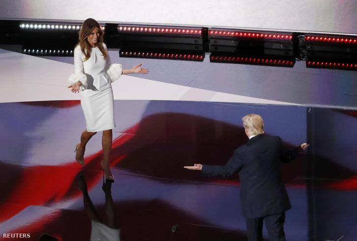 Melania Trump és Donald Trump Clevelandben