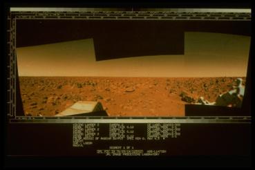 A Mars felszíne a Viking 1 űrszonda felvételén