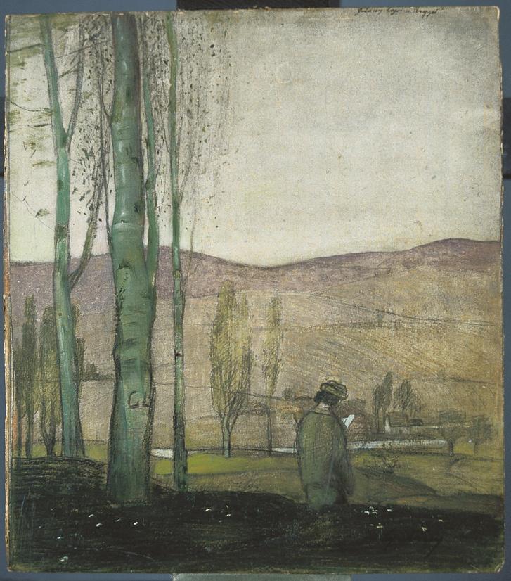 Gulácsy Lajos: Reggel (Magyar Nemzeti Galéria)