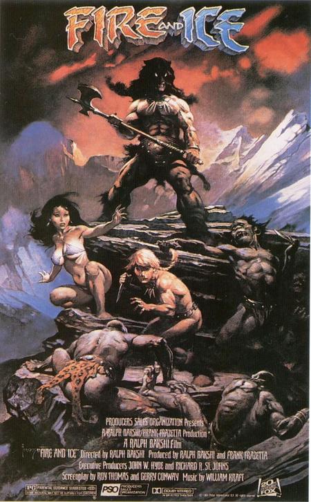 A Tűz és jég című fantasy rajzfilm plakátját is Frazetta festette