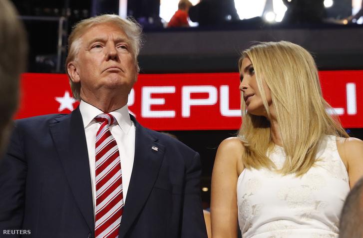 Donald-és Ivanka Trump Ted Cruz beszéde alatt