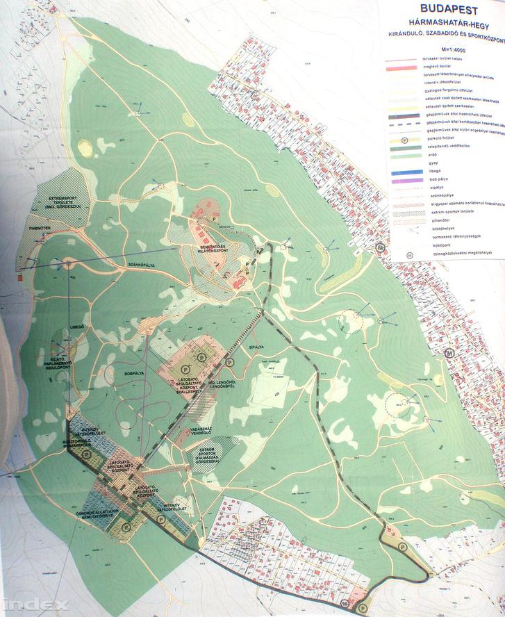 A Hármashatár-hegy térképe.