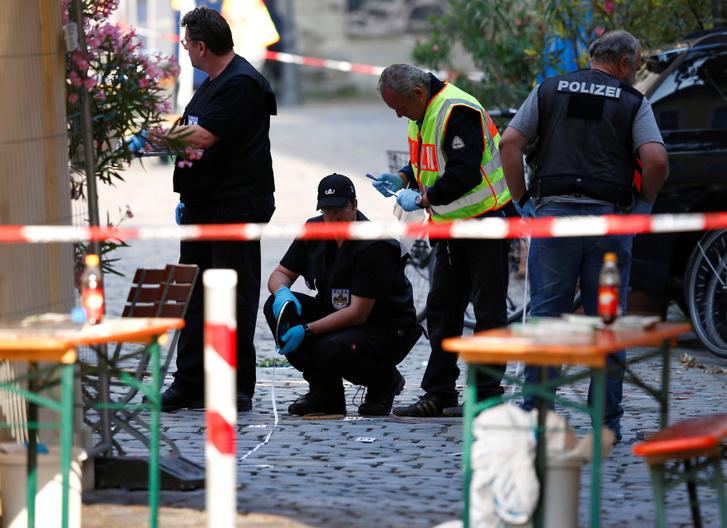 Az ansbachi robbantás helyszíne