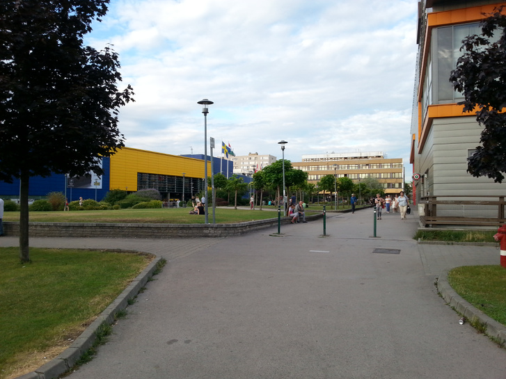 Az egyik működő térrész az IKEA és a Sugár között