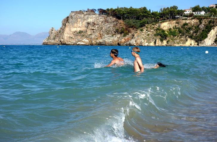 Ez a másik strand Scopellón