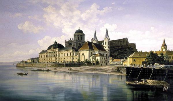 Hubert Sattler: Esztergomi látkép