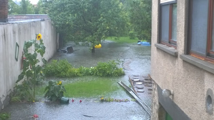 Szó szerint özönvízszerű eső volt Komáromban