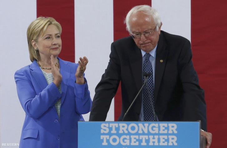 Hillary Clinton és Bernie Sanders Portsmouthban kampányol, 2016. július 12-én