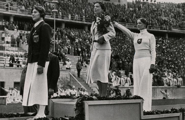 Ellen Preis, Elek Ilona és Helene Mayer a dobogón.