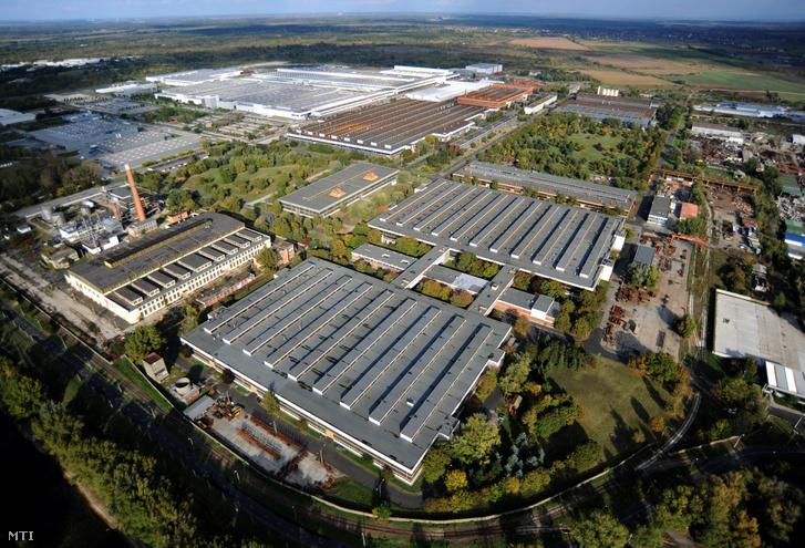 A győri ipari park területe
