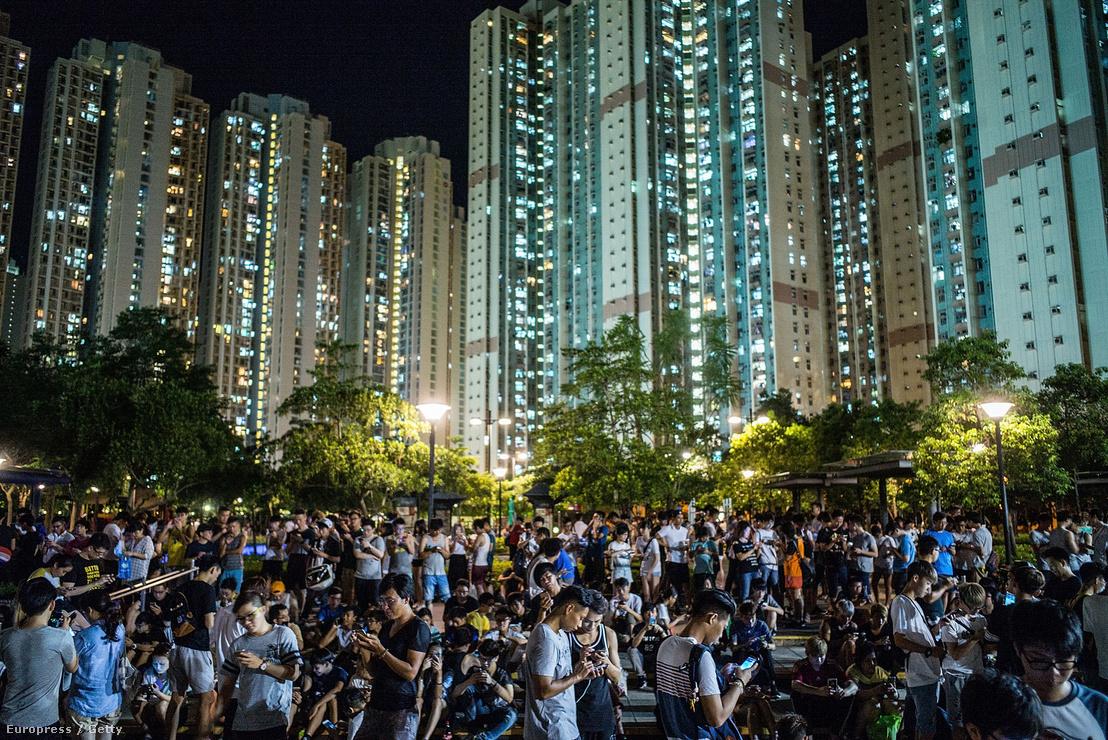 Pokemon Go játékosok Hongkongban