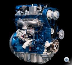 A kék színű blokk feláras lesz. Az 1,6-os Ecoboost turbómotor 150-180 lóerő közötti teljesítményfokozatokban készül majd, 2010-től