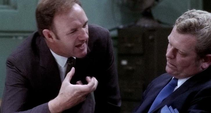 Hackman az igazi rendőrrel, akinek a szerepét játssza a filmben