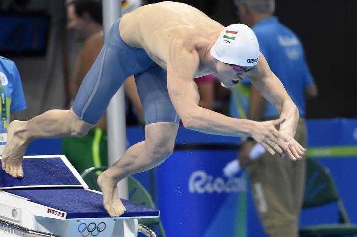 Bernek Péter a 2016-os riói nyári olimpia 400 méteres gyorsúszás versenyszámának előfutamában