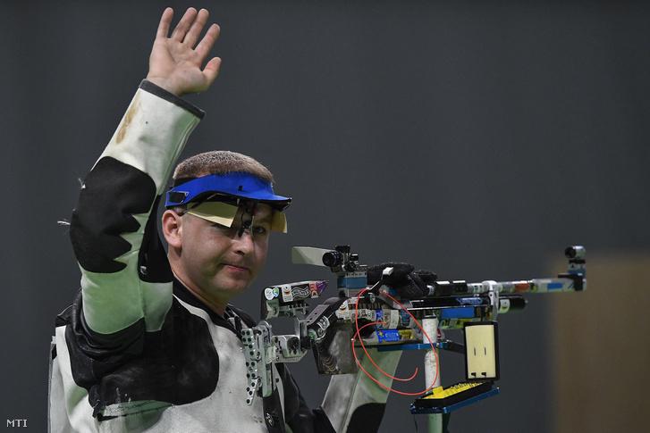 Sidi Péter a riói nyári olimpia férfi légpuska versenyszámának döntőjében