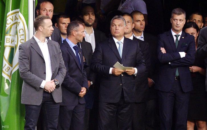 Orbán Viktor a Groupama Aréna avatóján