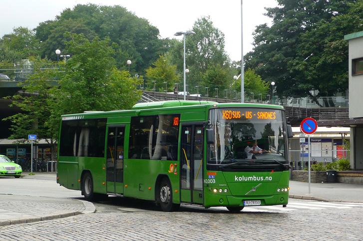 Ilyen zöld Volvo 8700 LE-ket láthat a szemfüles olvasó Budapesten