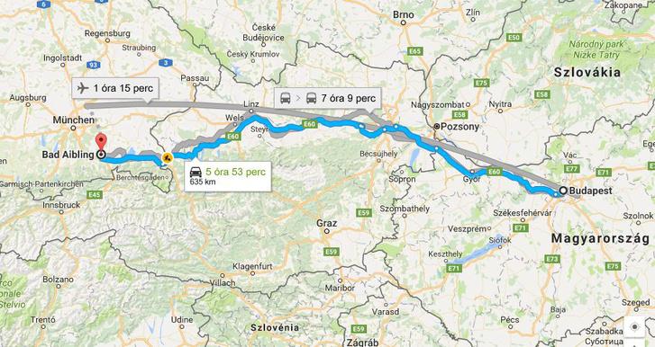 Bad Aibling nagyon közel van Budapesttől, de Hamburgból már nem tudtunk volna egy napon belül hazajönni. Aki kicsit gondolkodik, tudja, hogy ez további száz eurókkal tolta volna meg a költségvetést