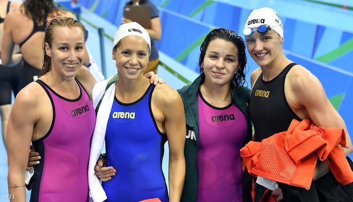 Ötödik legjobb idővel került be a 4x200 méteres gyorsváltó úszás döntőjében a Verrasztó Evelyn, Kapás Boglárka, Késely Ajna és Hosszú Katinkából álló magyar válogatott. A lányok a döntőben a hatodik helyet érték el, Verrasztó helyett Jakabos Zsuzsanna úszta az első 200 métert.