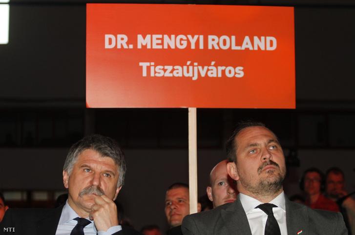 Kövér László és Mengyi Roland 2014-ben