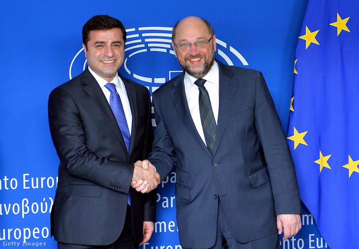 Selahattin Demirtas, Martin Schulz, az Európai Parlament elnöke társaságában