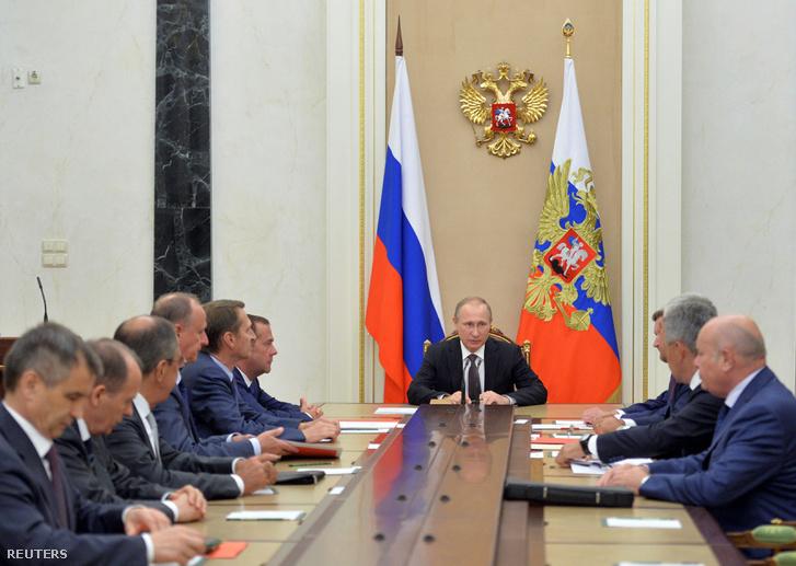 Az orosz védelmi tanács egyeztet a krími helyzetről augusztus 11-én.