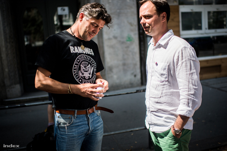 Belváros-Lipótváros Ramones-pólós polgármestere, Szentgyörgyvölgyi Péter és a fideszes országgyűlési képviselő, Nyitrai Zsolt