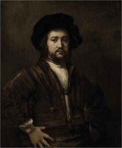 A Csípőre tett kezű férfi portréja