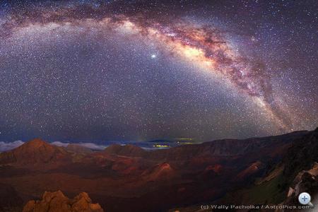A Tejút Mauna Kea felett.
