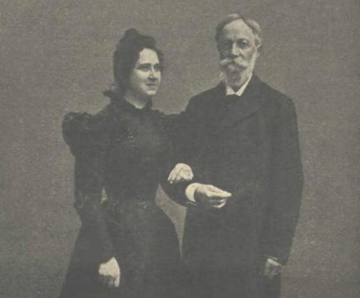 Jókai és neje, Nagy Bella 1899-ben, olaszországi nászútjuk során