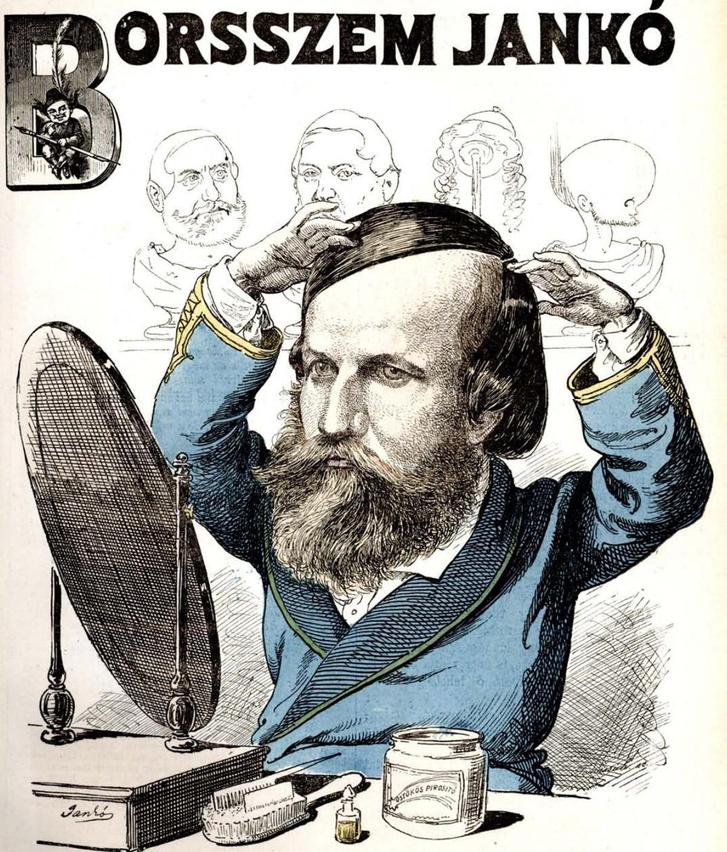 Jókai karikatúra a Borsszem Jankóban