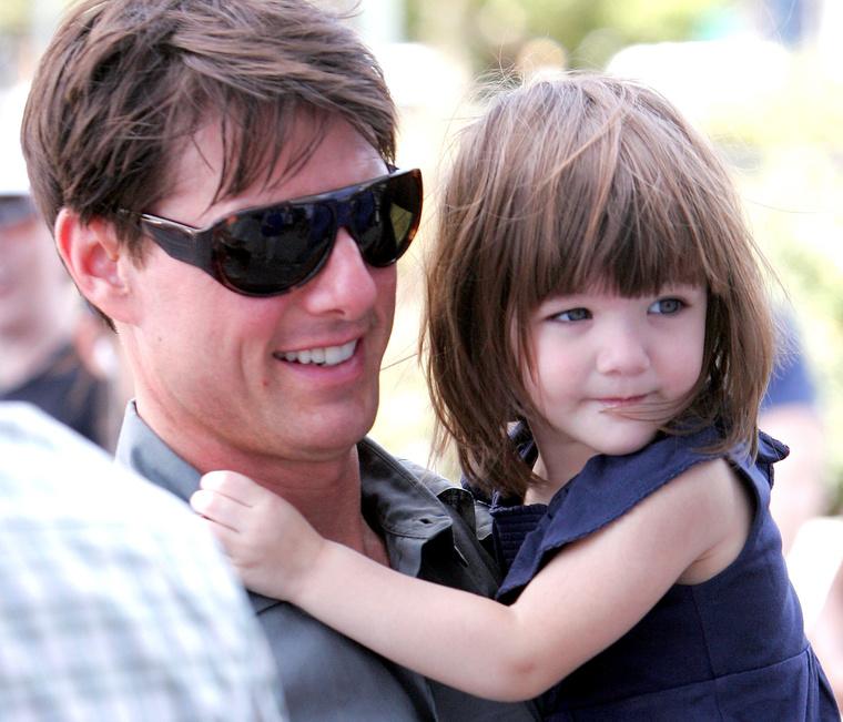 Tom Cruise a lányával még 2008-ban.