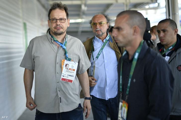 Hajo Seppelt német újságíró, aki az orosz doppingoló sportolókról szóló sorozatot rendezte, Rióban, augusztus 4-én.